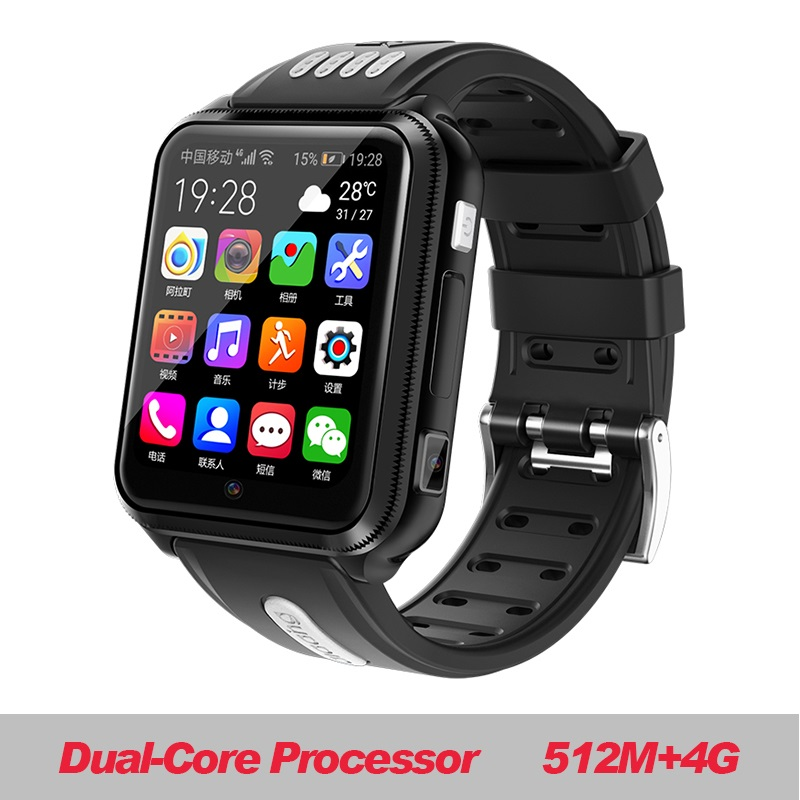 W5 2020 NFC Waterproof 4G Smartphone Watch Downloadable APP MP4 Play AI Smart Voice Amazfit Bip Strap Amazfit Pace Smart Bracele image