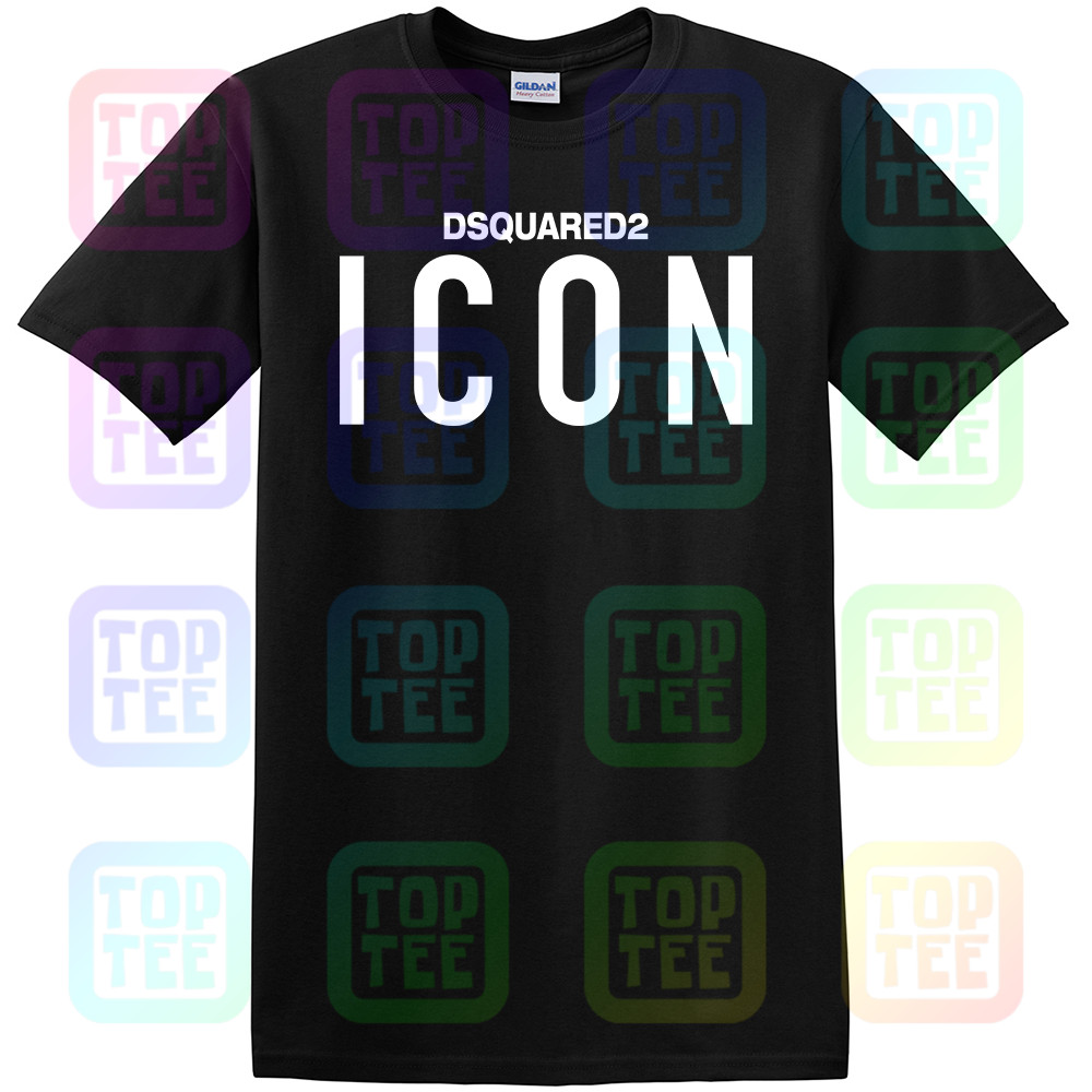 New Dsq2 Icon T-Shirt Short Sleeve Slim Fit Printed Icon Logo Printed Tee Unisex Size: S-3Xl