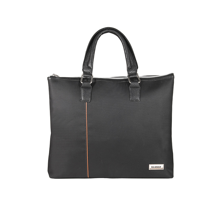 2019 Fashion Leisure Men's Business Bag New Oxford Cloth Waterproof Solid Color Zipper Portable Briefcase  Men Leather Bag