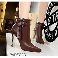 Women Winter Shoes 2019 Womens Ankle Boots Vintage Boots Korean Fashion High Heels Boots Women