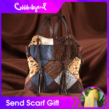 Cobbler Legend Genuine Cow Leather Backpack Laptop Women Fashion Shoulder Tassel Design Leisure Trends Large Capacity Daypack