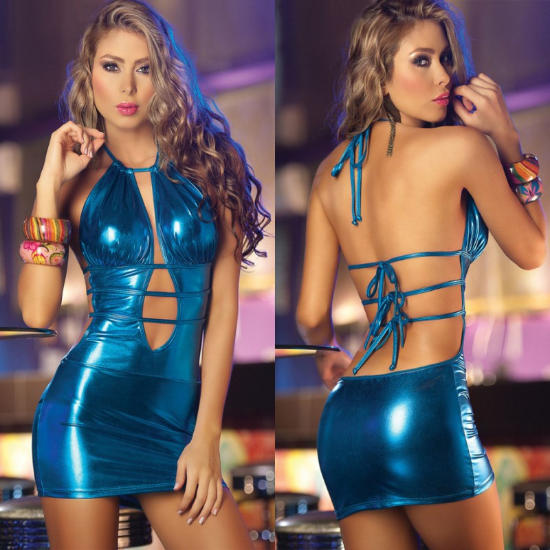 Women Sexy Erotic Lingerie Faux Leather Exotic Dress Sex Products Latex Lenceria Sexy Underwear Pole Dance Bandage Babydoll