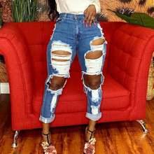 Женские летние джинсовые брюки карандаш с высокой талией и молнией