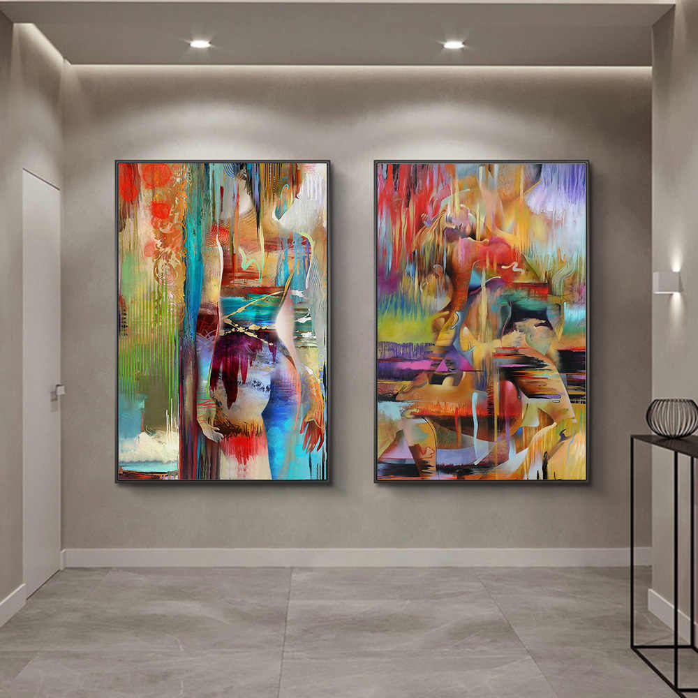 Modern Body Art Sexy Body Nude Beauty Women Oil Painting On Canvas Posters And Prints Cuadros Wall Art Pictures For Living Room Aliexpress