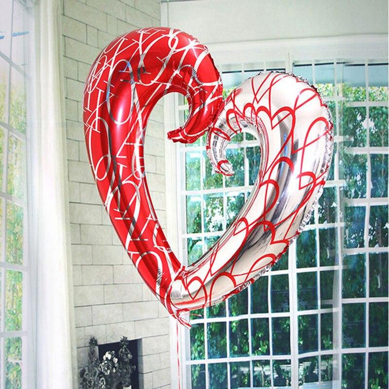 40-inch Love heart  Aluminum Film Balloon Wedding Arrangement Room Party Decoration Foil