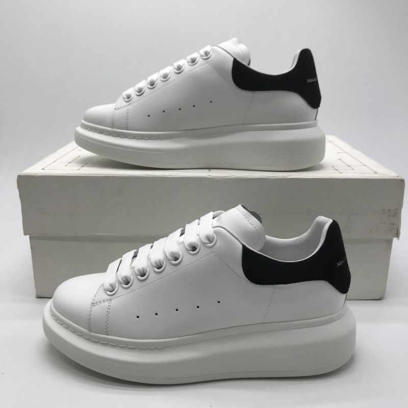 2019-20 weiß schuhe Männer Frauen Flache Schuhe Frühling Herbst Casual Schuhe Wahre Leder Schwarz Wildleder Schwanz Olomlb- mc Sneakers36-45