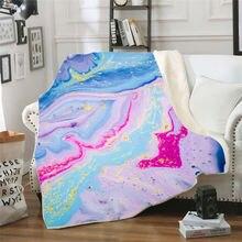Цветное Флисовое одеяло с 3d принтом для кровати густое пешего