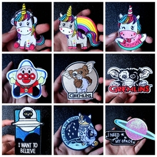 Nicediy Anpanman Cartoon Patch Embroidered Patches For Clothing unicorn Iron On Clothes Stripe Sewing Applique