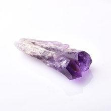 1PC Naturale Ametista Cluster di Quarzo Bacchetta Di Cristallo Punto di Cristalli Minerale Grezzo del Campione di Guarigione di Pietra Decorazione Della Casa Ornamenti