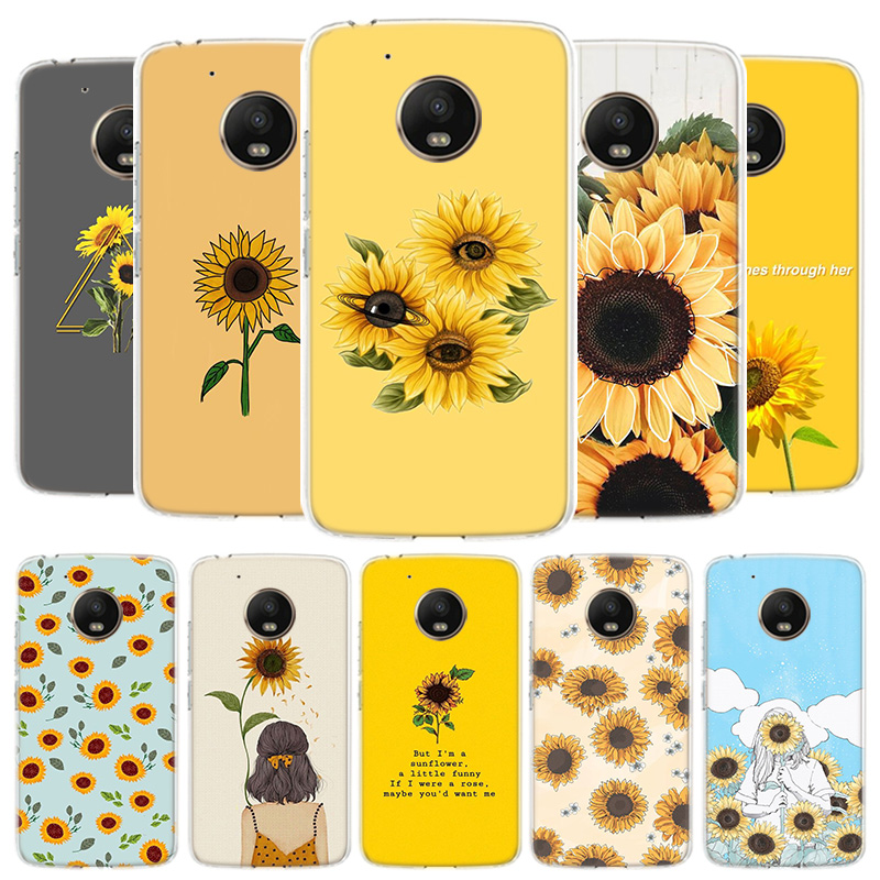 Aesthetics Sunflower Novelty Cover Phone Case For Motorola Moto G8 G7 G6 G5S G5 E4 Plus G4 E5 E6 Play Power One Action EU Gift S