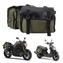 Motocicleta Vintage bolsa de sillín doble equipaje de alta calidad Rack bolsa mochila lateral bolsa de embalaje de alta capacidad