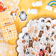 20packs/lot Kawaii Cute Animal Stationery Decor Supplies Diary DIY Decorative Planner Scrapbooking