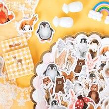 45 unids/pack Kawaii Cute Cat Pattern Decoracion diario adhesivos de papel Scrapbooking papelería estudiante Oficina suministros
