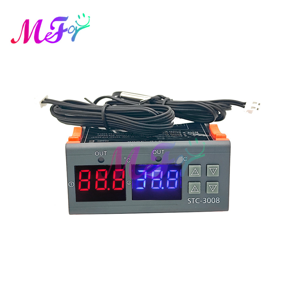 Цифровой термостат 220V STC-1000 3000 3008 3018 3028 регулятор температуры и влажности, регулятор влажности, термометр, гигрометр Датчик температуры влаж...