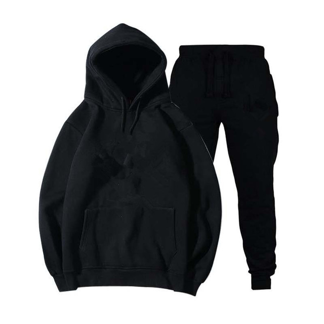 Mens and womens unisex 2 piece hooded trousers sportswear pullover sweatshirt trousers 2 piece sportswear suit