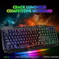 104-key Проводная Механическая игровая клавиатура GK-60 с цвет трещины дыхание клавиатура с подсветкой 2021 новый стиль подходит