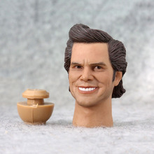 цена на Headplay 1/6 Scale Male Figure Accessory Jim Carrey Head Sculpt Carved Model with Neck Connector for 12'' Action Figure Body