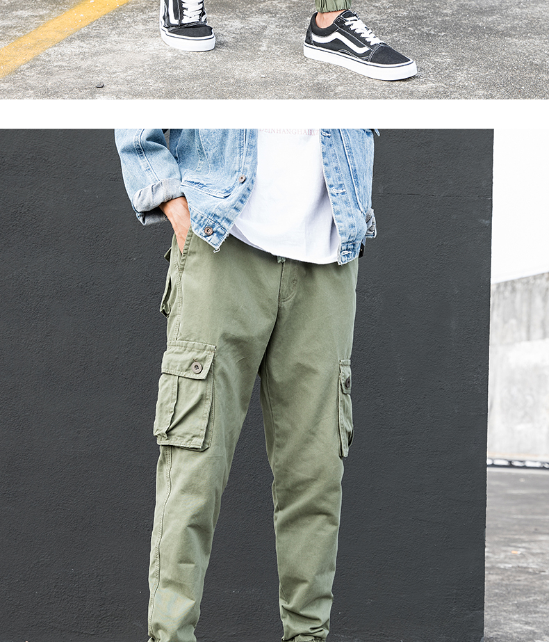 KSTUN Cargo Pants Men Summer Thin Male Overalls Loose fit Trousers casual pants joggers men's clothing brand soft 100% cotton 15
