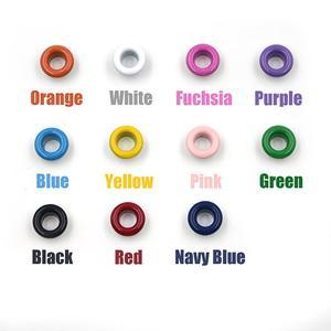 Image 2 - Ojales de Metal con agujeros de 11 colores variados para manualidades, cuero, zapatos de Scrapbooking, cinturón, bolsa, etiquetas para ropa, accesorios de moda, 100 Uds.