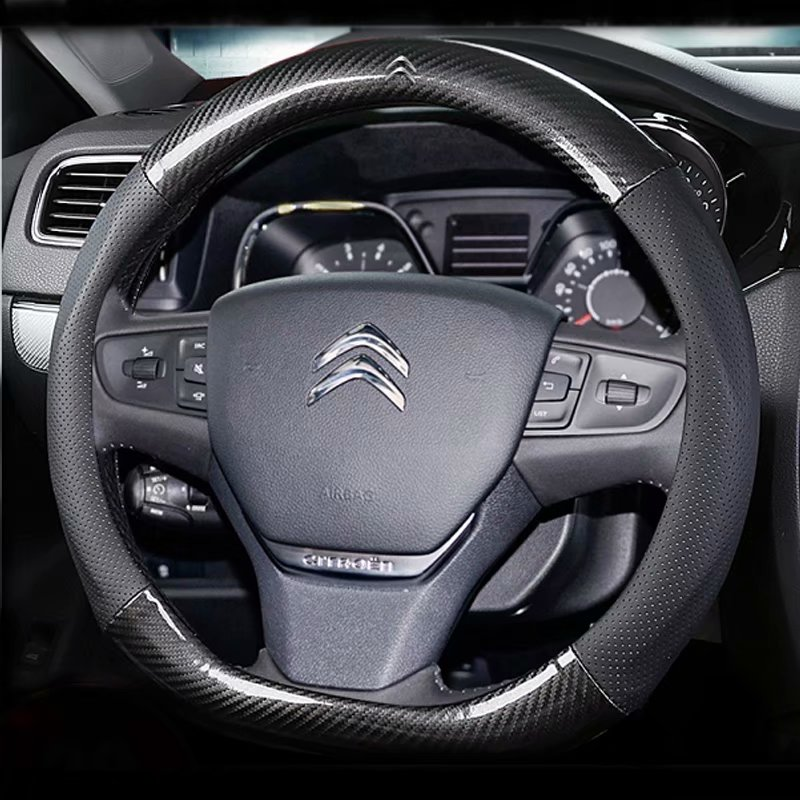 Car-Steering-Wheels-Cover AIRCROSS C-Triomphe C4L C-Elysee Citroen C2 38cm 37 for C5 title=