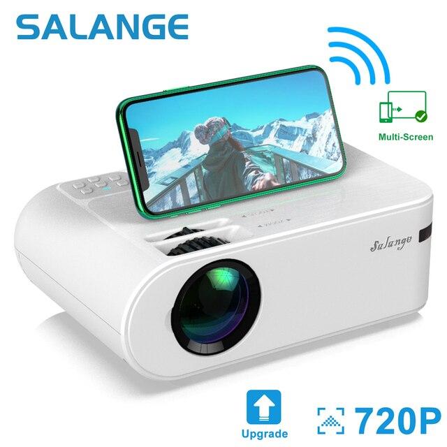 Salange P62 Mini Projector Voor Films Thuis, ondersteuning 1080P Full Hd Projetor Outdoor Theater 2800 Lumen Proyector Video Beamer