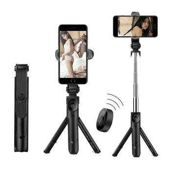 3 w 1 Selfie Stick statyw telefonu wysuwany Monopod z pilotem Bluetooth do smartfona Selfie Stick tanie i dobre opinie petehill STAINLESS STEEL CN (pochodzenie) Smartfony SK--B3N Bluetooth selfie stick iOS System + 4 3 Above Android System
