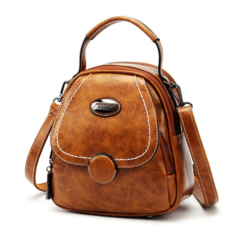 New Harajuku Style All match Fashion Girl Lady School Bags Solid Color Soft  Leather Ladies Shopping Travel Bags Women Small Bac