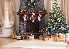 Vinyl Custom Photography Backdrops Prop Christmas day Christmas Tree Theme Photo Studio Background ST-2144 150cm 100cm vinyl custom photography backdrops prop christmas day background hc 10541