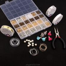3000 sztuk zestaw do tworzenia biżuterii z pierścieniami skoku śruba Eye Pin szpilki Lobster Claw klamrami kolczyki haki zestaw N26 20 Dropship tanie tanio JAVRICK CN (pochodzenie) 450g I haczyki klamry Jewelry Making Kit Metal 910727158