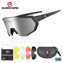 Polarized Cycling Sunglasses Eyewear Mtb-Goggles QUESHARK Road-Bike Big-Frame HD 5-Lens/Set