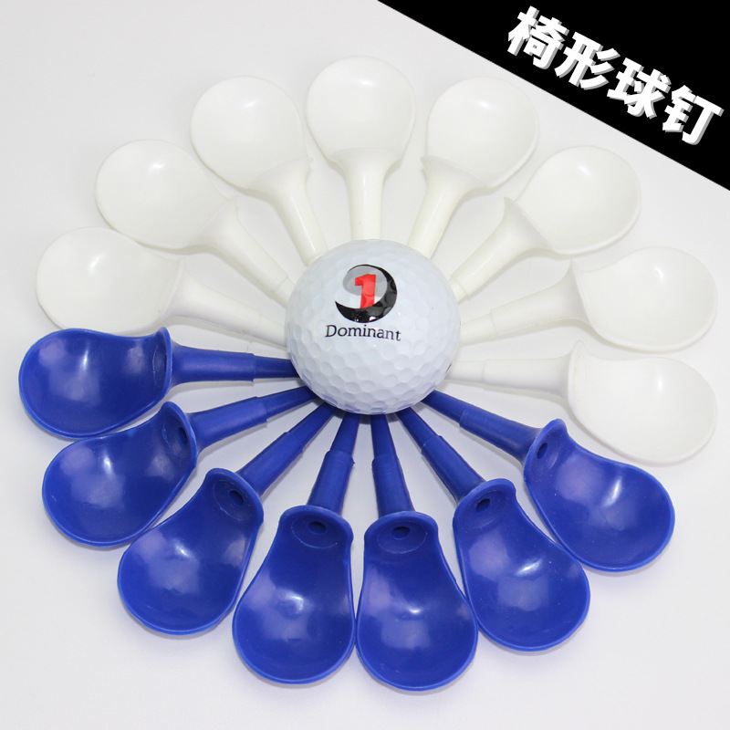 Plastic Ball Studs Golf Chair Shaped Ball Studs Plastic Ball Tee Golf Tee Limiting Device Ball Studs Ball Needle 2-Color