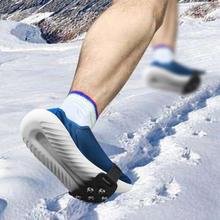 Unisex wspinaczka zimowa buty antypoślizgowe antypoślizgowe raki na pokrowiec na buty 7 stop zębów silikonowe skurcze antypoślizgowe tanie tanio MSFGJZM CN (pochodzenie) Silicone + zinc alloy