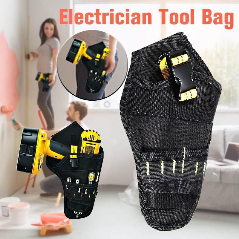 Портативная сумка для инструментов электрика, многофункциональная аккумуляторная электрическая сумка для дрели, поясная сумка, сумка для ...