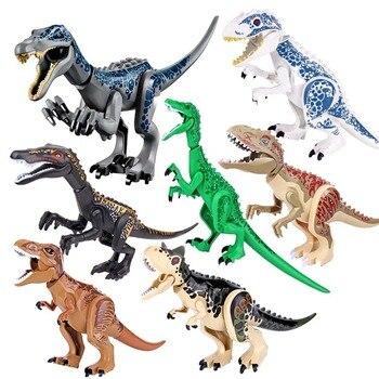 Jurassic Building Blocks World Dinosaurs Figures Bricks Baryonyx Tyrannosaurus Rex Indominus Rex I-Rex Assemble  Kids Toys rear left air suspension spring for toyota land cruiser prado 120 2002 2009 48090 35011 4809035011 air spring for toyota