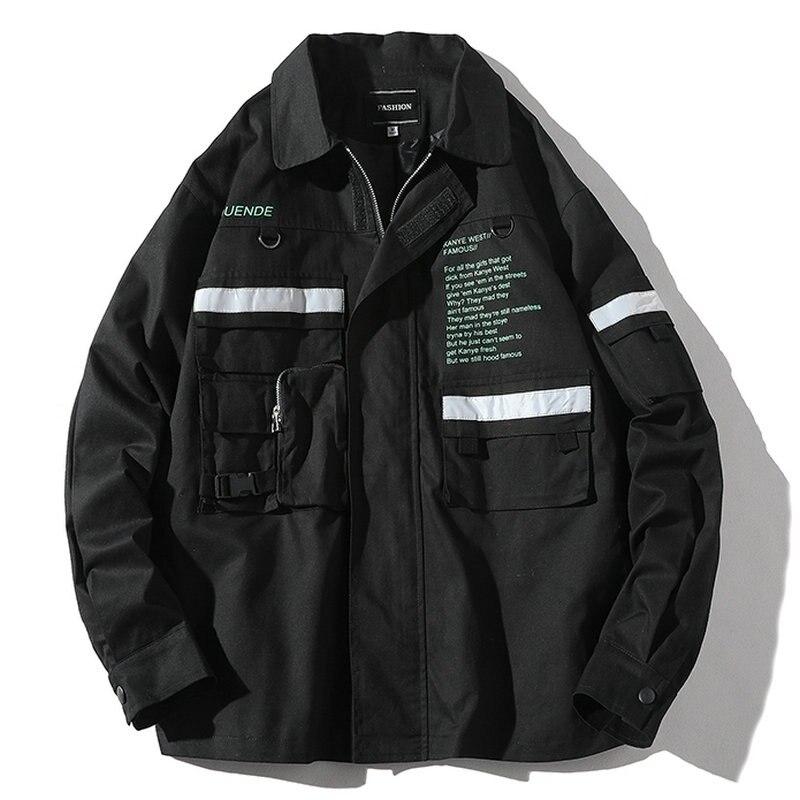2020 Autumn Men's Jacket New Zipper Windbreaker Jackets Letter Printed Overcoat Male Plus Size Hip Hop Streetwear Jackets Coat