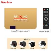 RF إلى HD تحويل التناظرية التلفزيون استقبال محول مع التحكم عن بعد 100 240V الكل القياسية ل HDTV مراقب العارض ، الوسائط المتعددة
