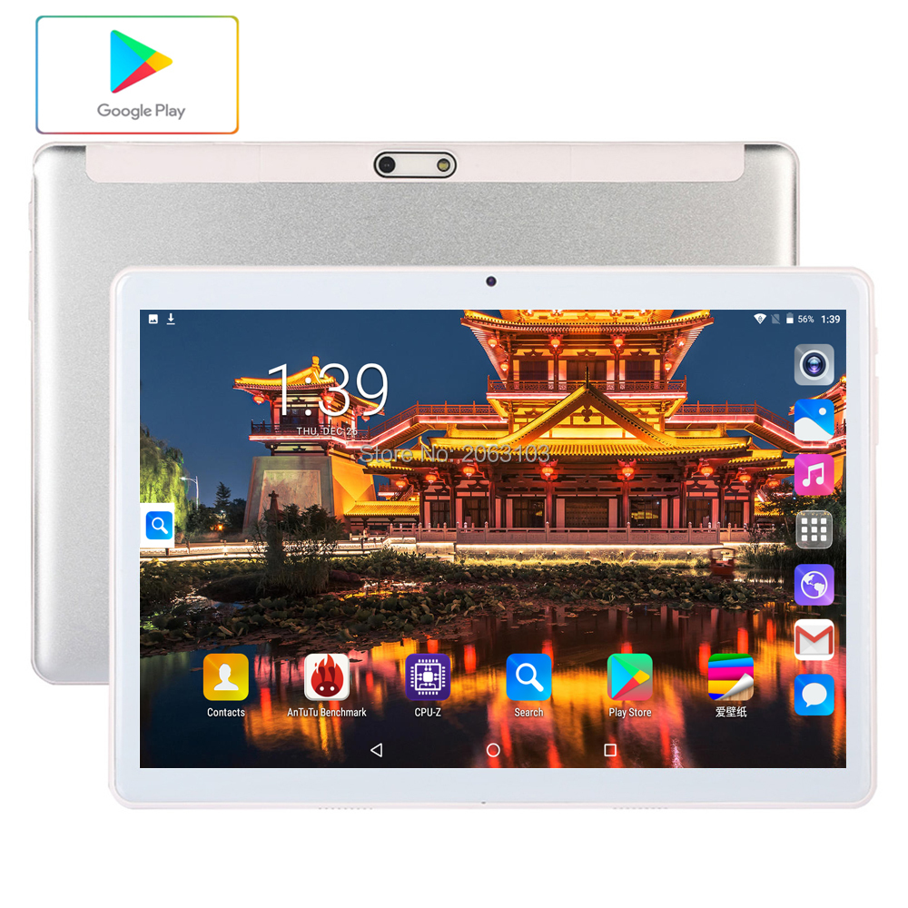 2020 Newest 10inch Tablets PC 3G Wifi 2.5D Tempered Glass 3000mAh Android 7.0 OS GPS RAM 2GB 96GB ROM IPS Quad Core Tablet 10.1