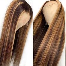 13x6 яркий Омбре кружевной передний парик 26 дюймов t часть