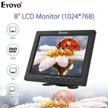 Eyoyo EM08B 8 Inch Portable BNC HDMI CCTV Mini Computer TV Monitor TFT LCD Screen 1024x768 Display With VGA For Security Camera