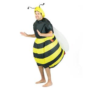 Image 4 - Inflatable Bumble Bee Costumes Women Men for Adults Party Carnival Cosplay Dress Blowup Outfits Halloween Purim Suits