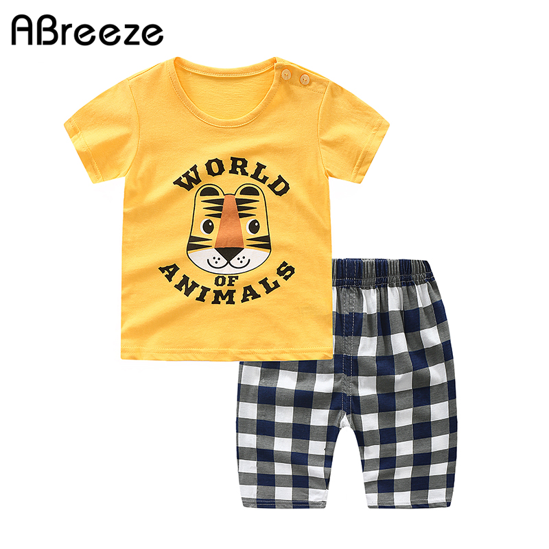 New Summer 24 Color Cartoon Print Baby Clothing 2020 Baby Boys/girls Clothes Sets Cotton 0-2Y Newborn Child Sets For Baby Boys