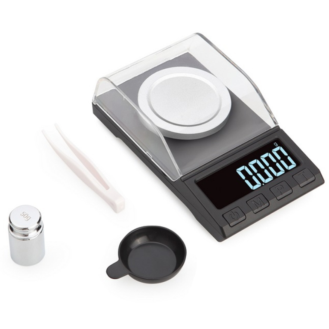 Electronic Jewelry Scales 0.001g 100g/50g/20g/10g LCD Digital Scale Medicinal Herbs Portable Lab Weight Milligram Scale