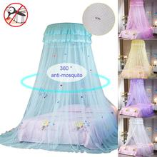 Bed Canopy Net Round Hoop Princess Girl Lace Bed Canopy Mosquito Net For Bedroom Hung Dome Lace Mosquito Net