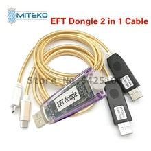 Mais novo 100% original fácil firmware tema/eft dongle + eft cabo uart 2 em 1 frete grátis