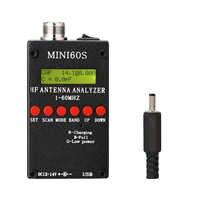 Analizador de antena con Bluetooth, probador de 1-60MHz, HF, ANT, SWR, aplicación Android, Software PC para Ham Radio Hobbists, comprobador de antena