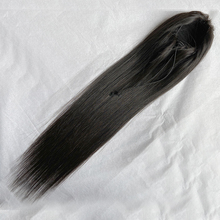 Sweetie человеческие волосы для наращивания с зажимом на шнурке хвост прямой Реми бразильские волосы конский хвост для чернокожих женщин