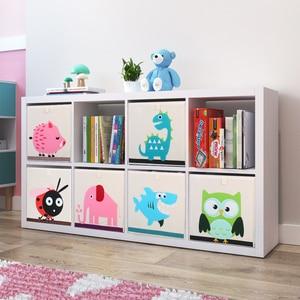 Image 3 - Nouveau 3D Cartoon Animal jouet boîte de rangement pliant bacs de rangement armoire tiroir organisateur vêtements panier de rangement enfants jouets organisateur