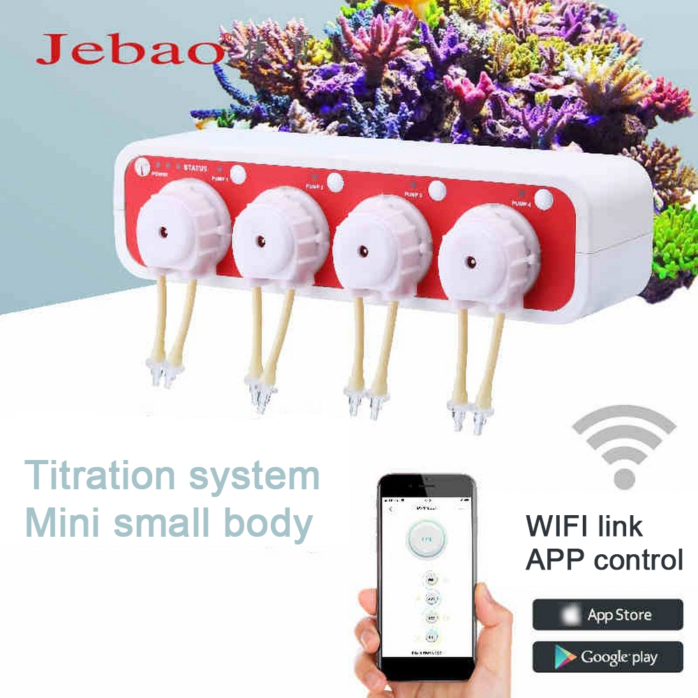 JEBAO Wifi Dosing Titration Pump DOSER3.4 Aquarium High Precision 2 In 1 Automatic And Manual Control Infusion Liquid Machine
