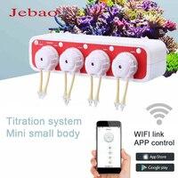 JEBAO Wifi Dosing Pump Mini Mini Titration Pump Titration System Aquarium Automatic Peristaltic Metering Machine for Marine Reef