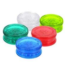 Tobacco Grinder Spice Crusher Random-Smoking-Accessories Color Plastic NICEYARD 3-Layer